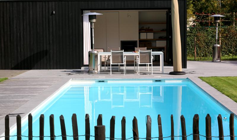 Aménagement extérieur d'exception avec poolhouse