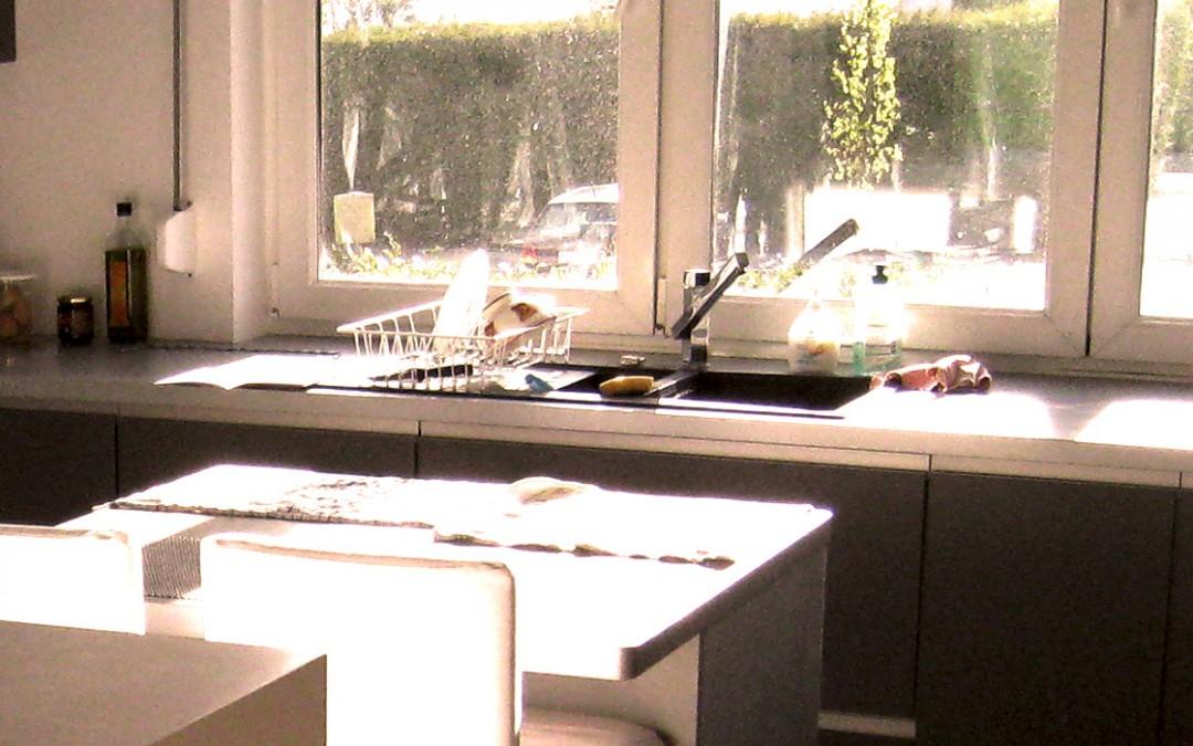 Rénovation de la cuisine avec pose d'un foyer Stuv