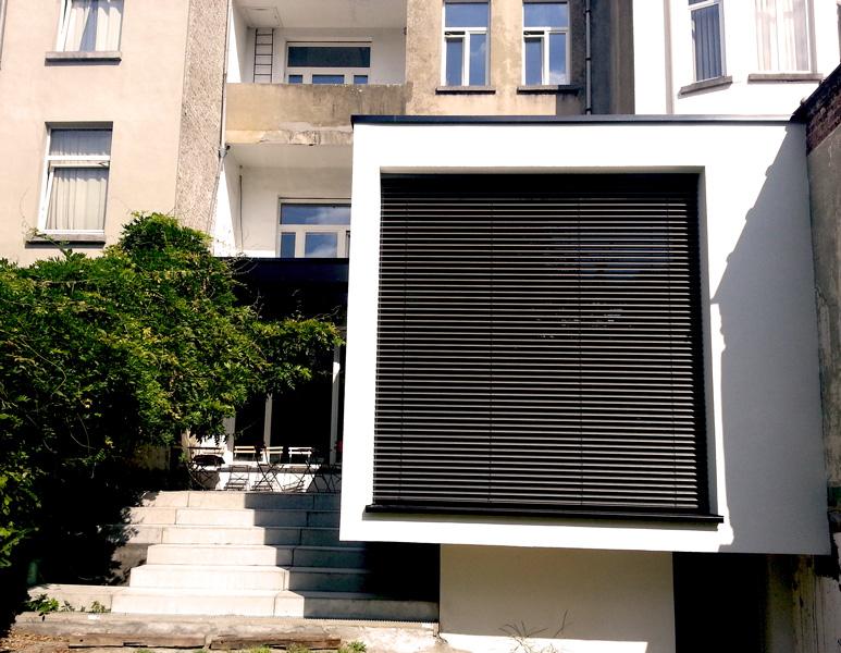 Rénovation et extension arrière de bâtiment